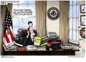 Political Cartoon U.S. James Comey Obama Flynn CIA