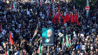 Mourners gather in Tehran.
