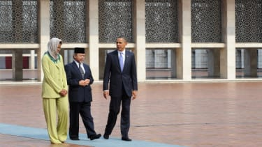 President Obama visits a mosque in Jakarta, Indonesia in 2010