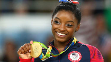 Olympic gymnast Simone Biles.