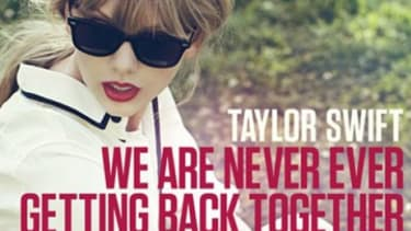 """Taylor Swift's single """"We Are Never Ever Getting Back Together"""" shot to the top of the iTunes Songs chart in just under an hour of its release."""