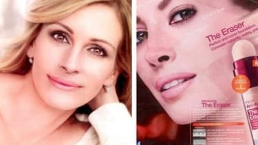 Photoshop happy editors advertisers may have finally crossed a line with misleading images of Julia Roberts looking unrealistic, according to British watchdog.