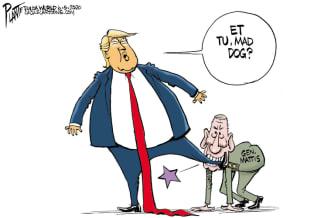 Political Cartoon U.S. Trump Mattis