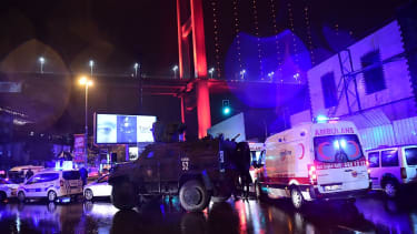 The aftermath of a gunman attack in Istanbul during New Year's Eve revels