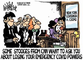 Political Cartoon U.S. cuomo cnn nursing home deaths