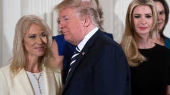 Kellyanne Conway, Trump, and Ivanka Trump
