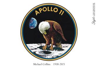 Editorial Cartoon U.S. michael collins rip nasa