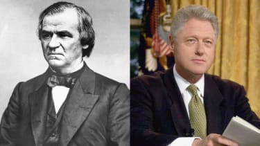 Former Presidents Andrew Johnson and Bill Clinton.