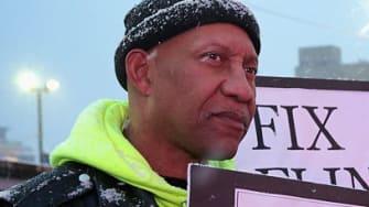 Demonstrators in Flint, Michigan.