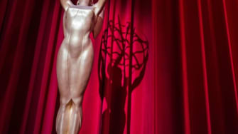 The stage is set ahead of the nominations announcement for the 70th Emmy Awards on July 12, 2018 at the Television Academy's Wolf Theatre in North Hollywood, California.