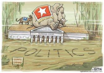 Political Cartoon U.S. SCOTUS GOP Democrats