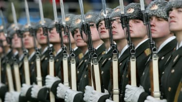 The Russian military is presenting itself as more advanced than it actually is.