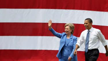Hillary Clinton, Barack Obama in 2008