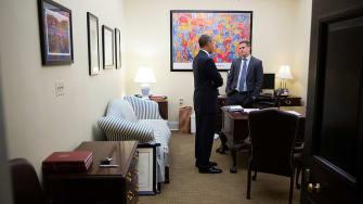 Dan Pfeiffer and Barack Obama