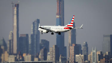 American Airlines Boeing 737 Max 8.