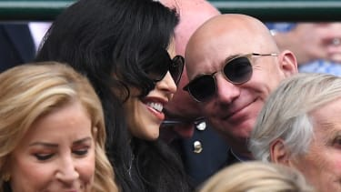 Jeff Bezos and Lauren Sanchez.