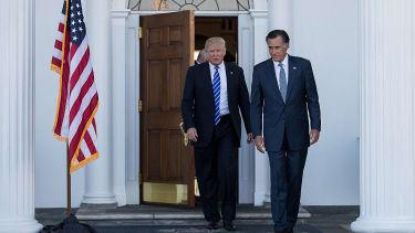 Donald Trump and Mitt Romney.