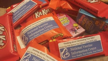 Anti-vaccine parents use Halloween candy as propaganda outlet