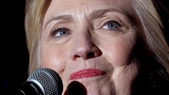 Hillary ahead.