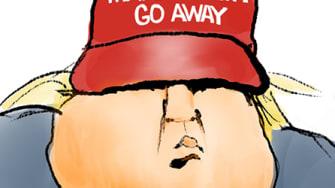 Political Cartoon U.S. Trump loss