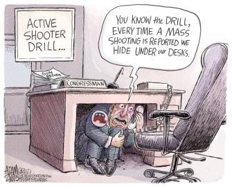 Political Cartoon U.S. gop congress mass shooting