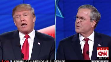 Jeb Bush spars with Donald Trump