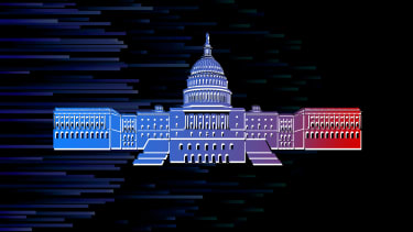 The Capitol turns blue.