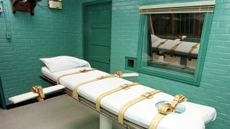 Death chamber used for lethal injection.