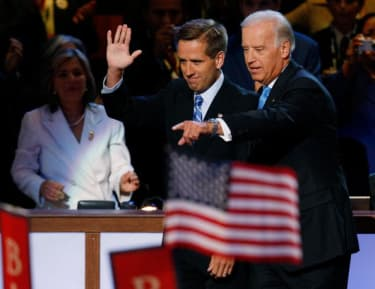 Beau and Joe Biden, in 2008.