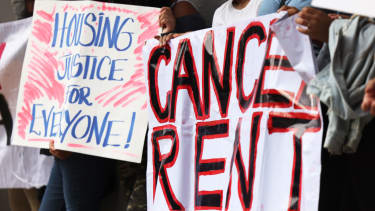 Protesters call for rent releif