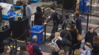 Department of Homeland Security confronts TSA about lines.