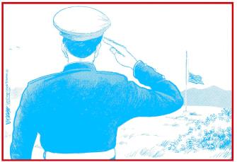 Editorial Cartoon U.S. Memorial Day salute