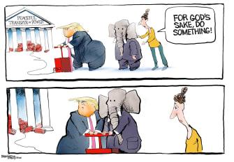 Political Cartoon U.S. Trump GOP transition