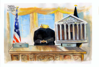 Political Cartoon U.S. Trump Supreme Court DACA LGBTQ rights