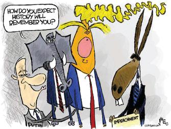 Political Cartoon U.S. Putin GOP Trump Impeachment Memory