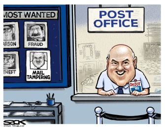 Editorial Cartoon U.S. DeJoy USPS