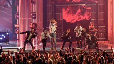 Backstreet Boys and Georgia County Line perform at the ACM Awards
