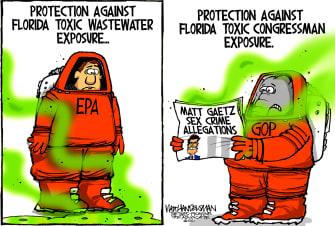 Political Cartoon U.S. florida matt gaetz