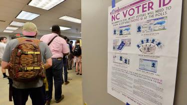 Primary voting in North Carolina.