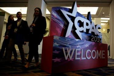 CPAC 2019 sign.