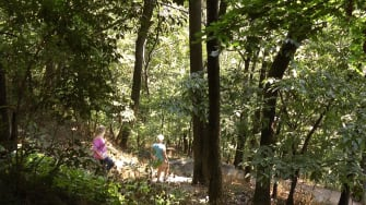 People walk on the Appalachian Trail.