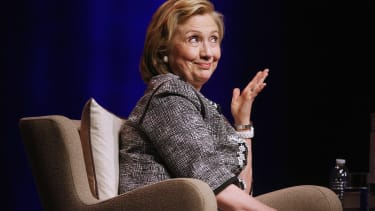 Hillary Clinton — or her double?