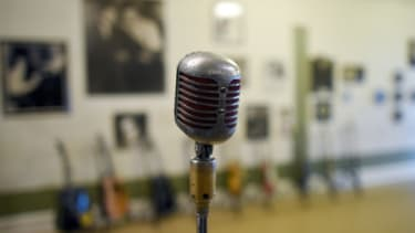 A recording microphone.