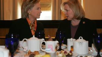 Kirsten Gillibrand and Hillary Clinton.