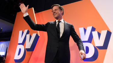 Dutch Prime Minister Mark Rutte declares victory