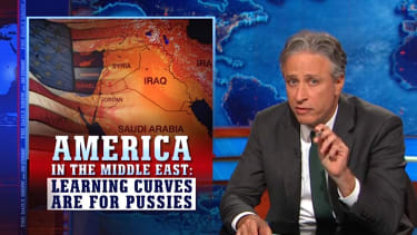Jon Stewart has a history lesson for American hawks