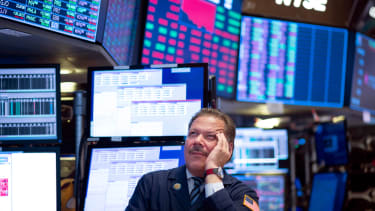 A trader on the NYSE