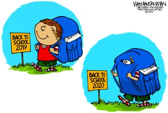 Editorial Cartoon U.S. back to school coronavirus