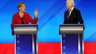Elizabeth Warren and Joe Biden.