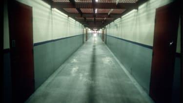 A hallway in California's maximum security prison Pelican Bay.